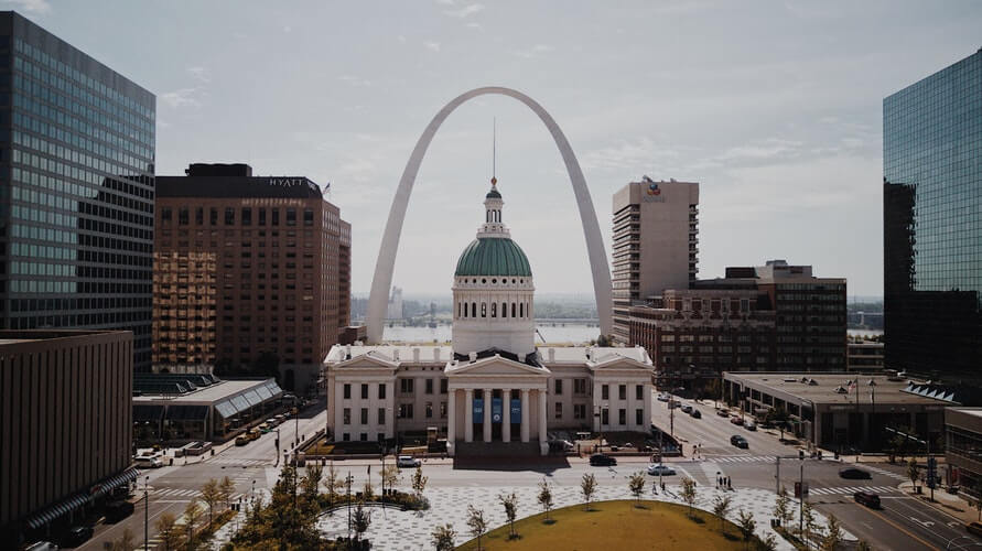 A photo of the St Louis Municipal Hall